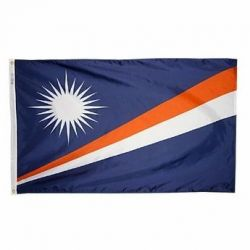 Nylon Marshall Islands Flag - 2 ft X 3 ft