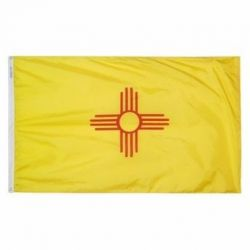 Nylon New Mexico State Flag - 12 in X 18 in