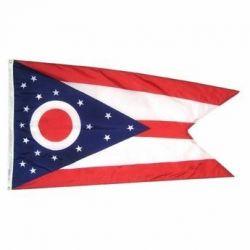 Nylon Ohio State Flag - 12 in X 18 in