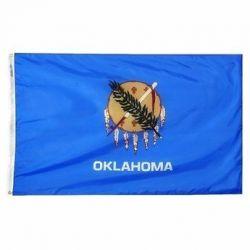 Nylon Oklahoma State Flag - 12 in X 18 in
