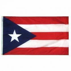 Nylon Puerto Rico Flag - 12 in X 18 in