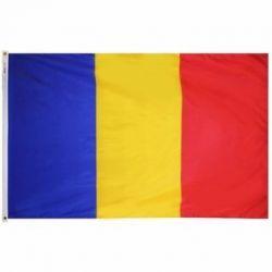 Nylon Romania Flag - 2 ft X 3 ft