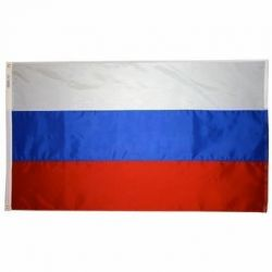 Nylon Russia Flag - 2 ft X 3 ft