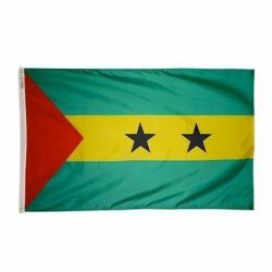 Nylon Sao Tome & Principe Flag - 2 ft X 3 ft
