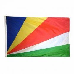 Nylon Seychelles Flag - 2 ft X 3 ft