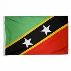 Nylon St. Kitts-Nevis Flag - 2 ft X 3 ft
