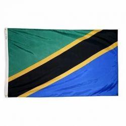 Nylon Tanzania Flag - 2 ft X 3 ft