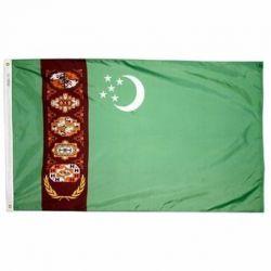 Nylon Turkmenistan Flag - 2 ft X 3 ft