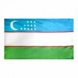 Nylon Uzbekistan Flag - 2 ft X 3 ft