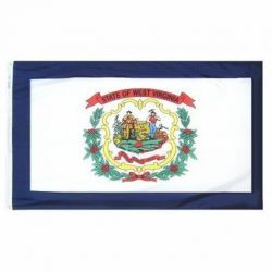 Nylon West Virginia State Flag - 12 in X 18 in