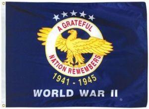 Nylon World War II Commemorative Flag - 3 ft X 4 ft