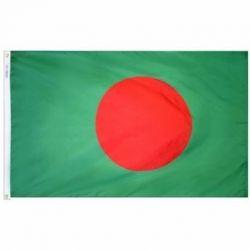 Nylon Bangladesh Flag - 3 ft X 5 ft