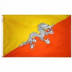 Nylon Bhutan Flag - 3 ft X 5 ft