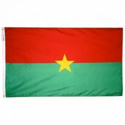 Nylon Burkina Faso Flag - 3 ft X 5 ft