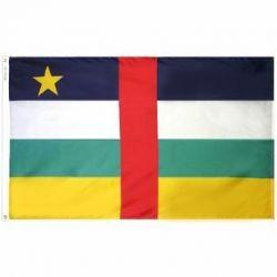 Nylon Central African Republic Flag - 3 ft X 5 ft