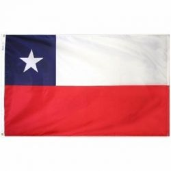 Nylon Chile Flag - 3 ft X 5 ft