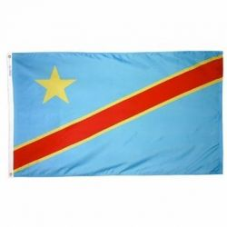 Nylon Democratic Republic of Congo Flag - 3 ft X 5 ft