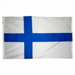 Nylon Finland Flag - 3 ft X 5 ft