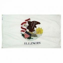 Nylon Illinois State Flag - 3 ft X 5 ft