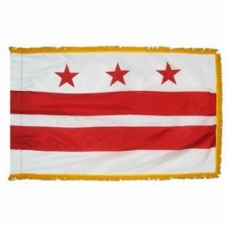 3' X 5' Nylon Indoor/Parade District of Columbia Flag