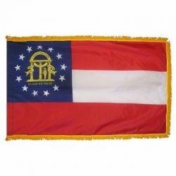 3' X 5' Nylon Indoor/Parade Georgia State Flag