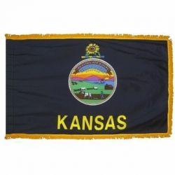 3' X 5' Nylon Indoor/Parade Kansas State Flag