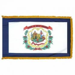 3' X 5' Nylon Indoor/Parade West Virginia State Flag