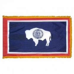 3' X 5' Nylon Indoor/Parade Wyoming State Flag