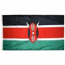 Nylon Kenya Flag - 3 ft X 5 ft