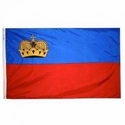 Nylon Liechtenstein Flag - 3 ft X 5 ft