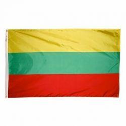 Nylon Lithuania Flag - 3 ft X 5 ft