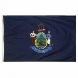 Nylon Maine State Flag - 3 ft X 5 ft