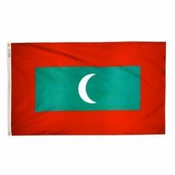 Nylon Maldives Flag - 3 ft X 5 ft