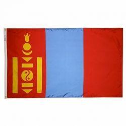 Nylon Mongolia Flag - 3 ft X 5 ft