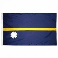 Nylon Nauru Flag - 3 ft X 5 ft