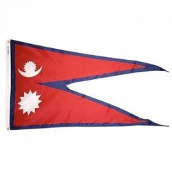 Nylon Nepal Flag - 3 ft X 5 ft