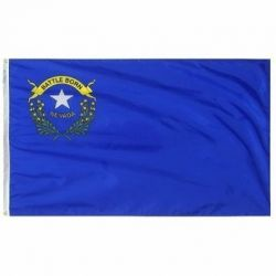 Nylon Nevada State Flag - 3 ft X 5 ft