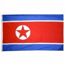 Nylon North Korea Flag - 3 ft X 5 ft