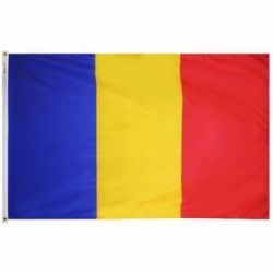 Nylon Romania Flag - 3 ft X 5 ft