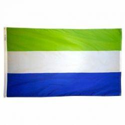 Nylon Sierra Leone Flag - 3 ft X 5 ft