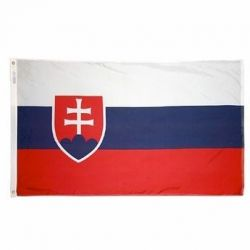 Nylon Slovak Republic Flag - 3 ft X 5 ft