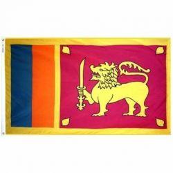 Nylon Sri Lanka Flag - 3 ft X 5 ft