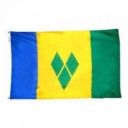 Nylon St. Vincent & Grenadines Flag - 3 ft X 5 ft