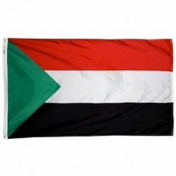 Nylon Sudan Flag - 3 ft X 5 ft