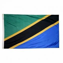 Nylon Tanzania Flag - 3 ft X 5 ft