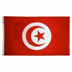 Nylon Tunisia Flag - 3 ft X 5 ft
