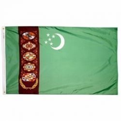 Nylon Turkmenistan Flag - 3 ft X 5 ft