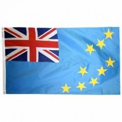 Nylon Tuvalu Flag - 3 ft X 5 ft