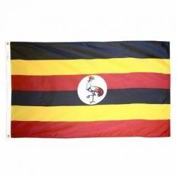 Nylon Uganda Flag - 3 ft X 5 ft