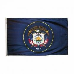 Nylon Utah State Flag - 3 ft X 5 ft
